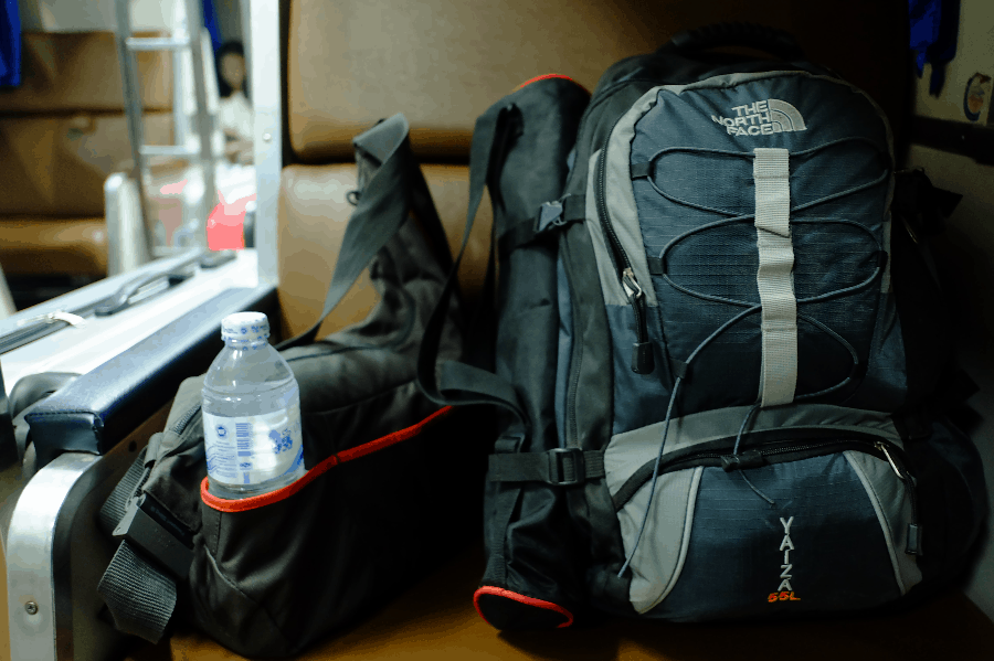 choosing backpack