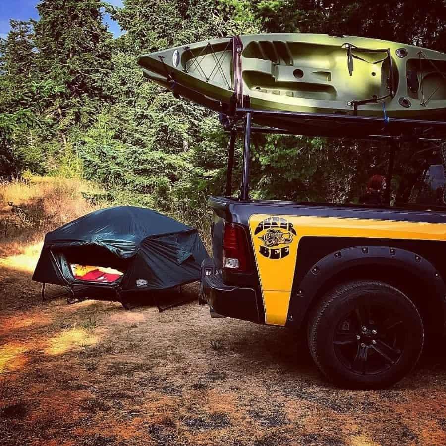 tent cot camping