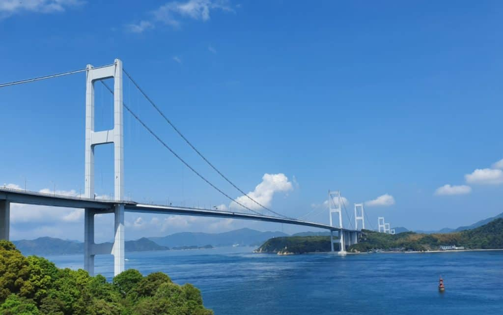 Shiminami Kaido Bicycle Ride - Start of the Route from Imabari